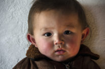 Mongolia, Kazakh boy in West Mongolia