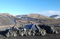 Iceland, campsite on the Laugavegur trekking