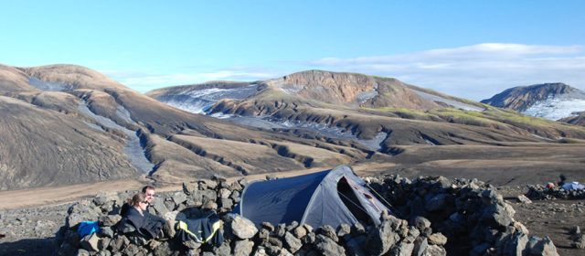 Iceland, campsite on the Laugavegur trekking