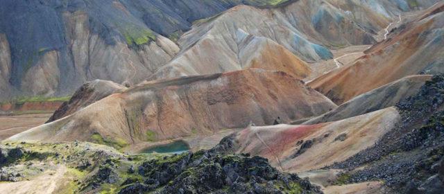 Colourful landscape in Landmannalaugur, Iceland