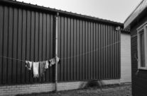 Polish camping – laundry hanging outside