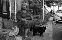 Sunnita in her frontgarden