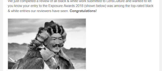 Honered to be top-rated by LensCulture