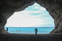 Cave at Cala Ganone, Sardinia