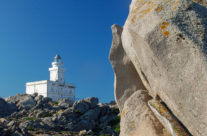 Lighthouse at the North coast Sardinia